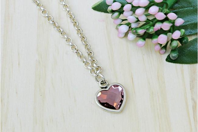 Colgante heart pink
